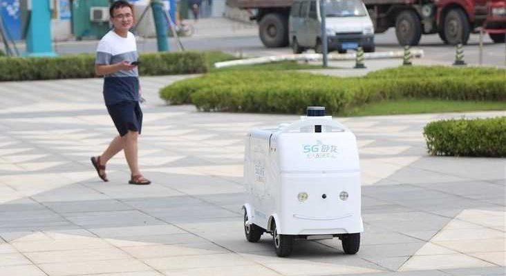 китайский беспилотный автомобиль 5G